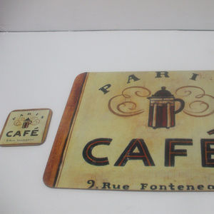 Other - Paris Cafe 1 placemat and 1 coaster corkboard
